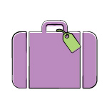 traveling and boarding icon