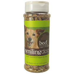 Smiling Dog Kibble Seasoning: Beef with potatoes, carrots, and celery