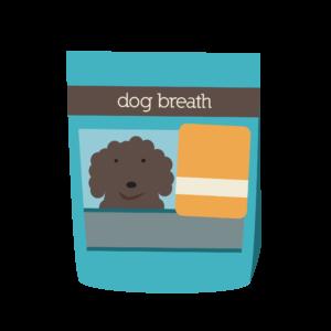 Cartoon drawing of Herbsmith's Dog Breath