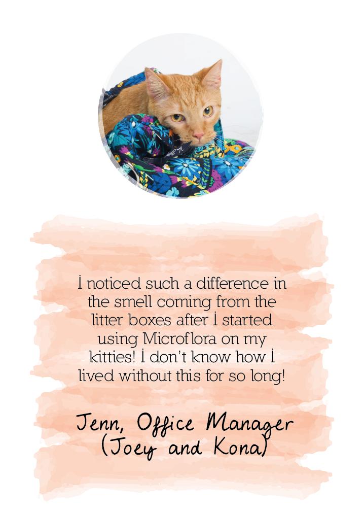 Microflora testimonial from Jenn: digestive health
