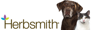 Herbsmith banner with a dog and cat